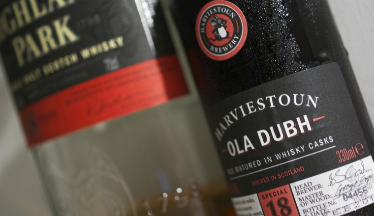 Whiskylagret øl: Harviestoun Ola Dubh 18 yrs (8 %)